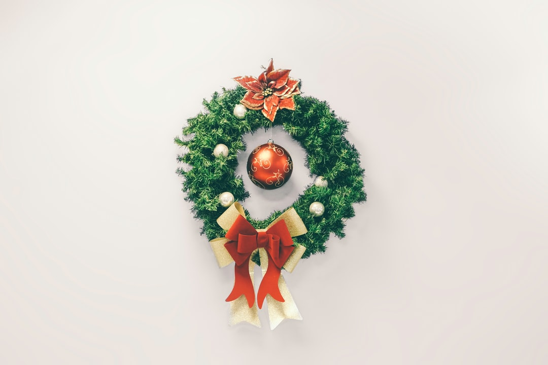 This lovely wreath adorns an otherwise plain wall in the Salvation Army building in Central Harlem during the holiday season.