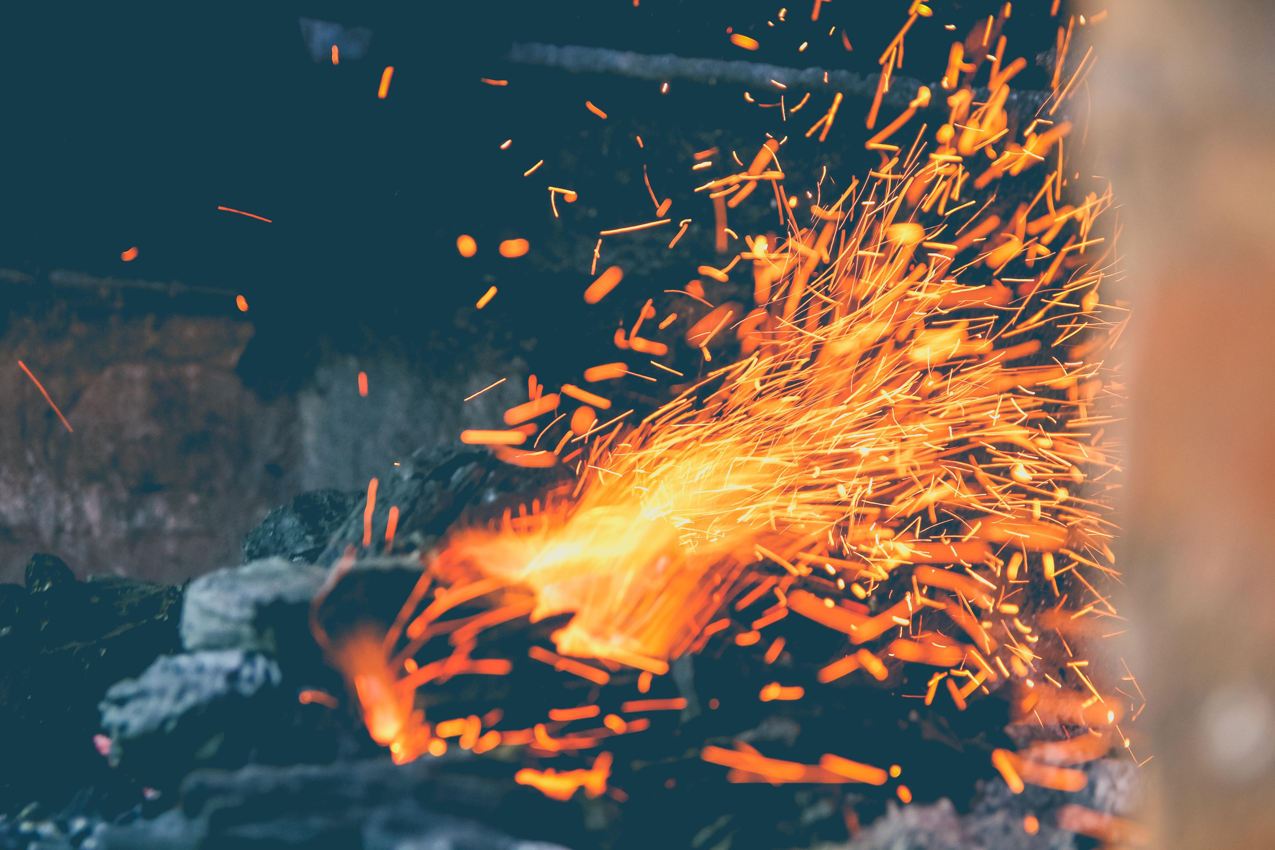 charcoal burning