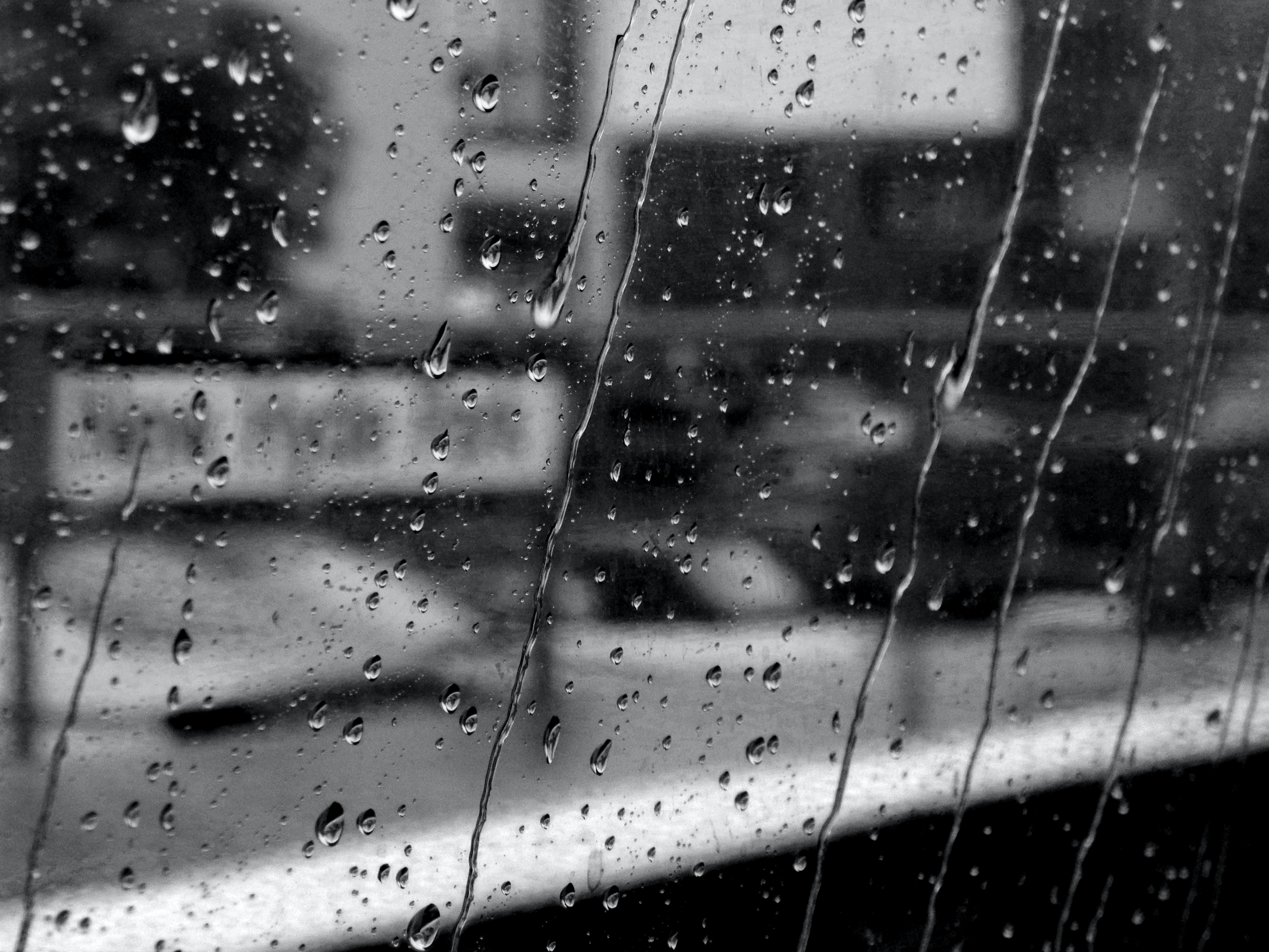 water dew on car window