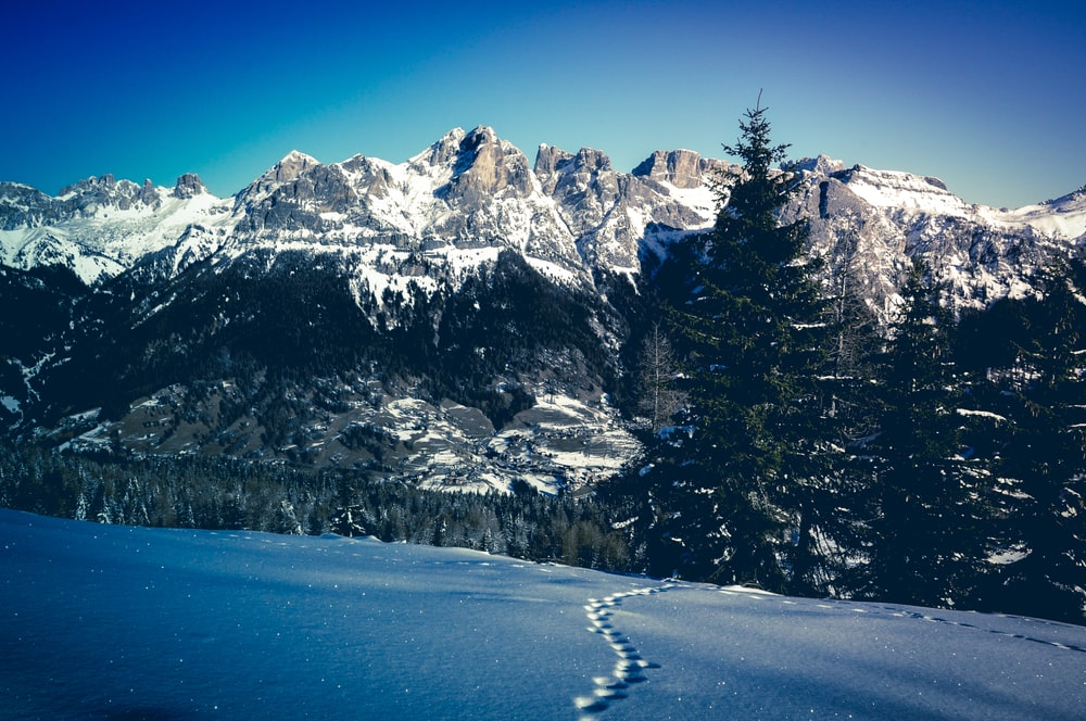 snow covered mountain ranges during daytime in landscape photography