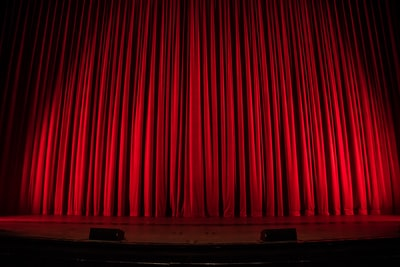 red theater curtain curtain teams background