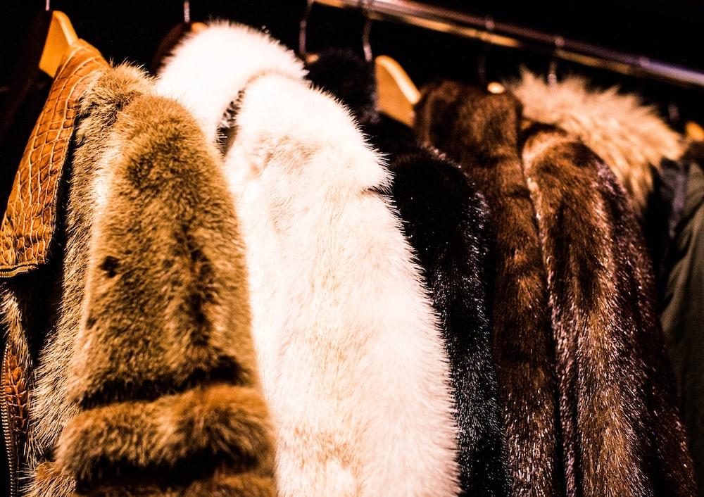 assorted mink coat