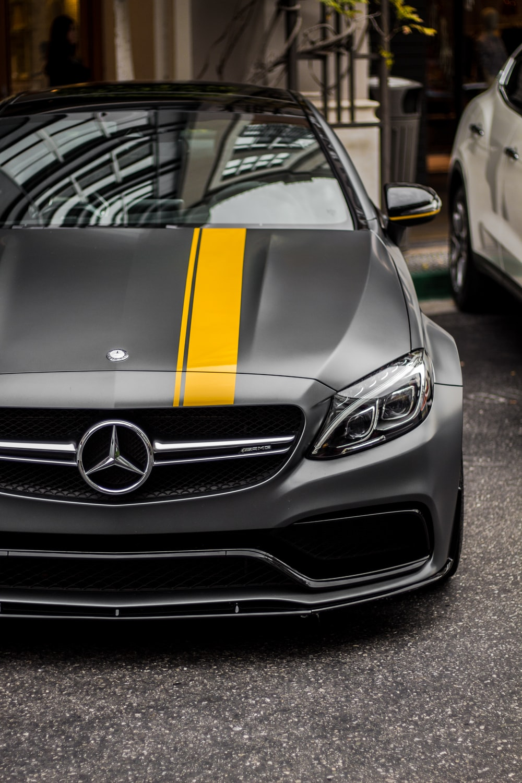 black Mercedes-Benz car