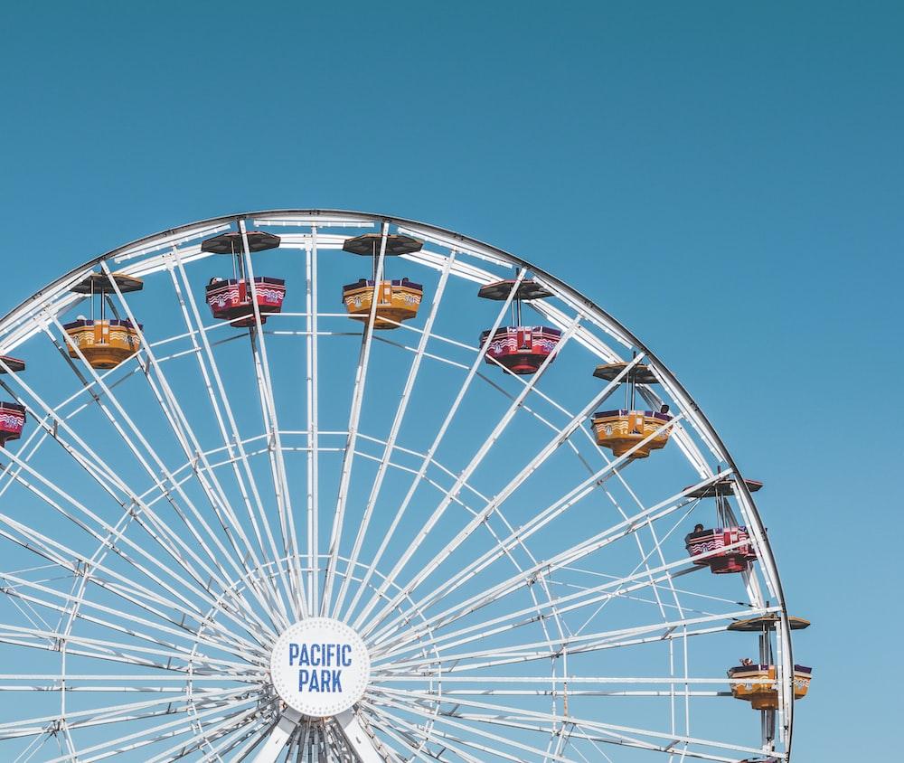 white Pacific Park ferris wheel
