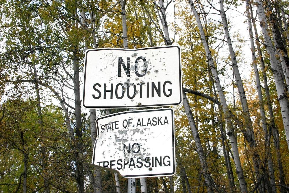 No Shooting signage