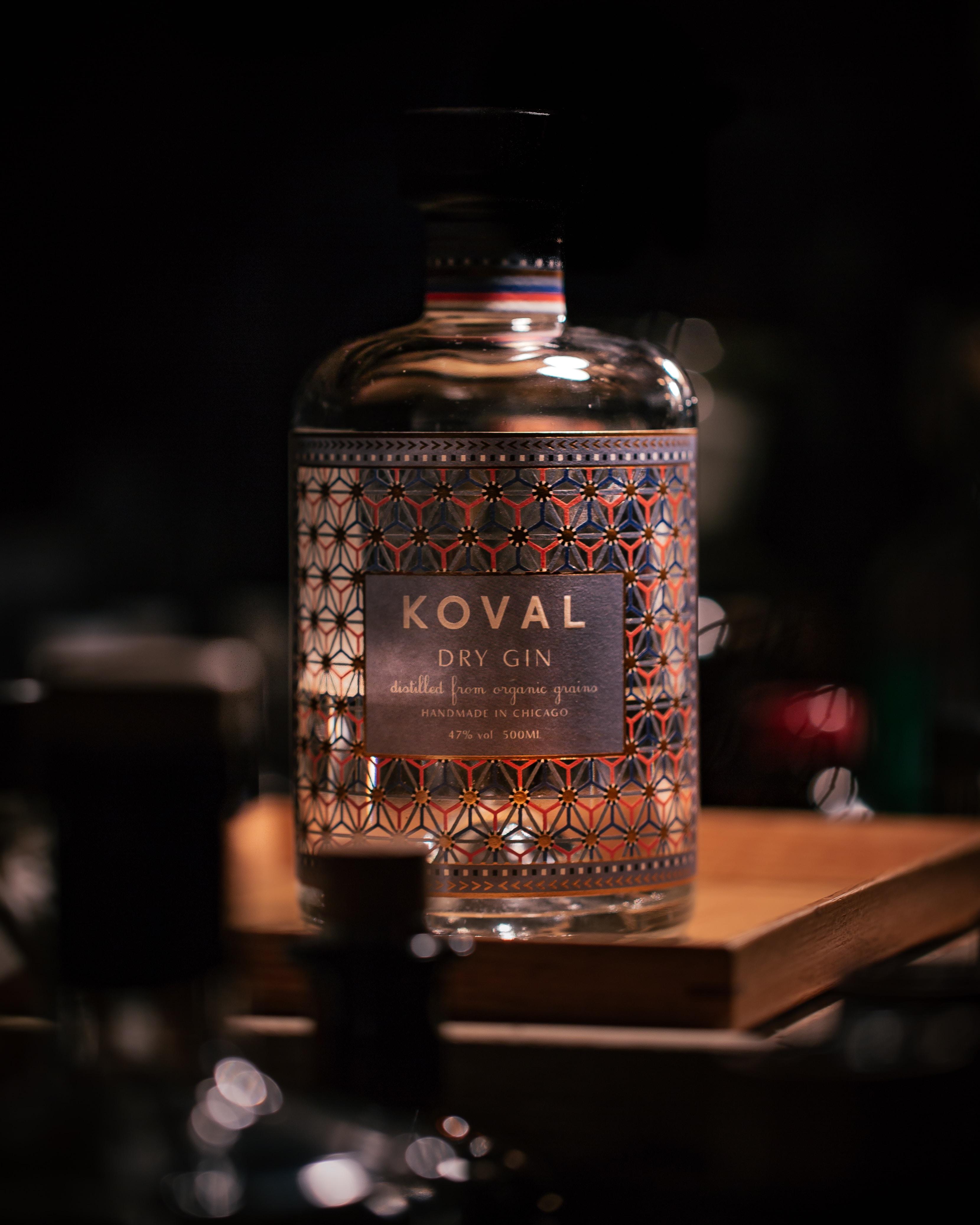 Koval dry gin bottle