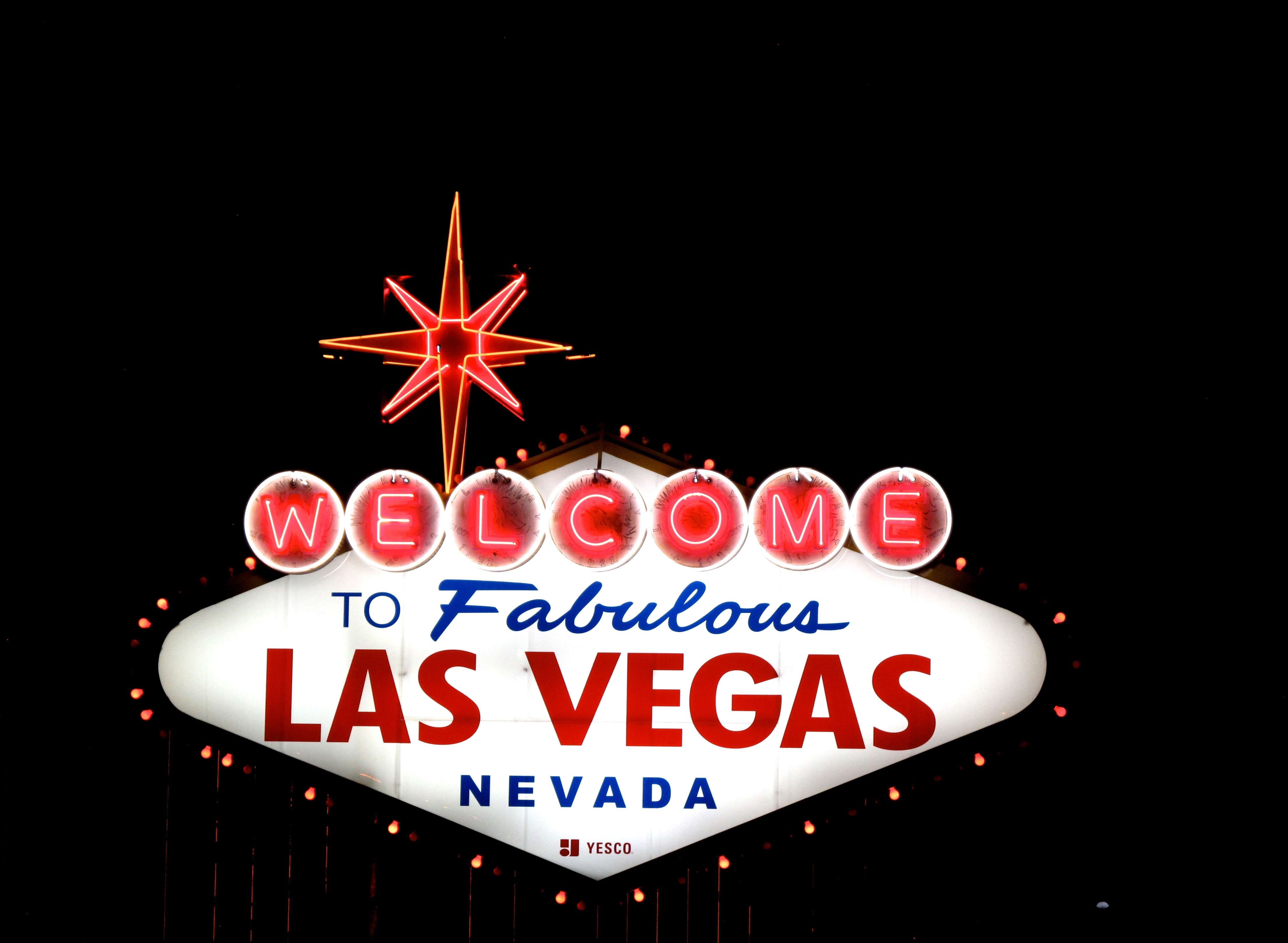 To Fabulous Las Vegas Nevada signage