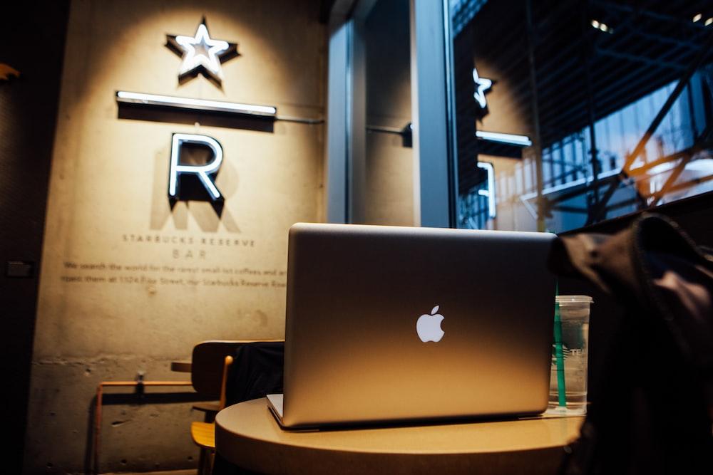 silver Apple MacBook