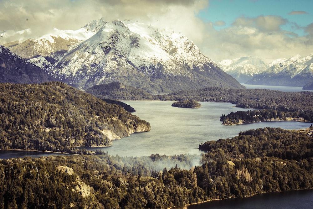 scenery of mountain near body of water