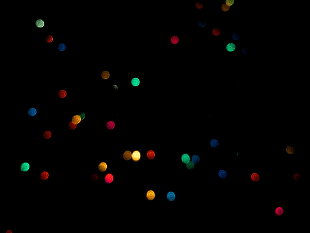 assorted-color light bokeh