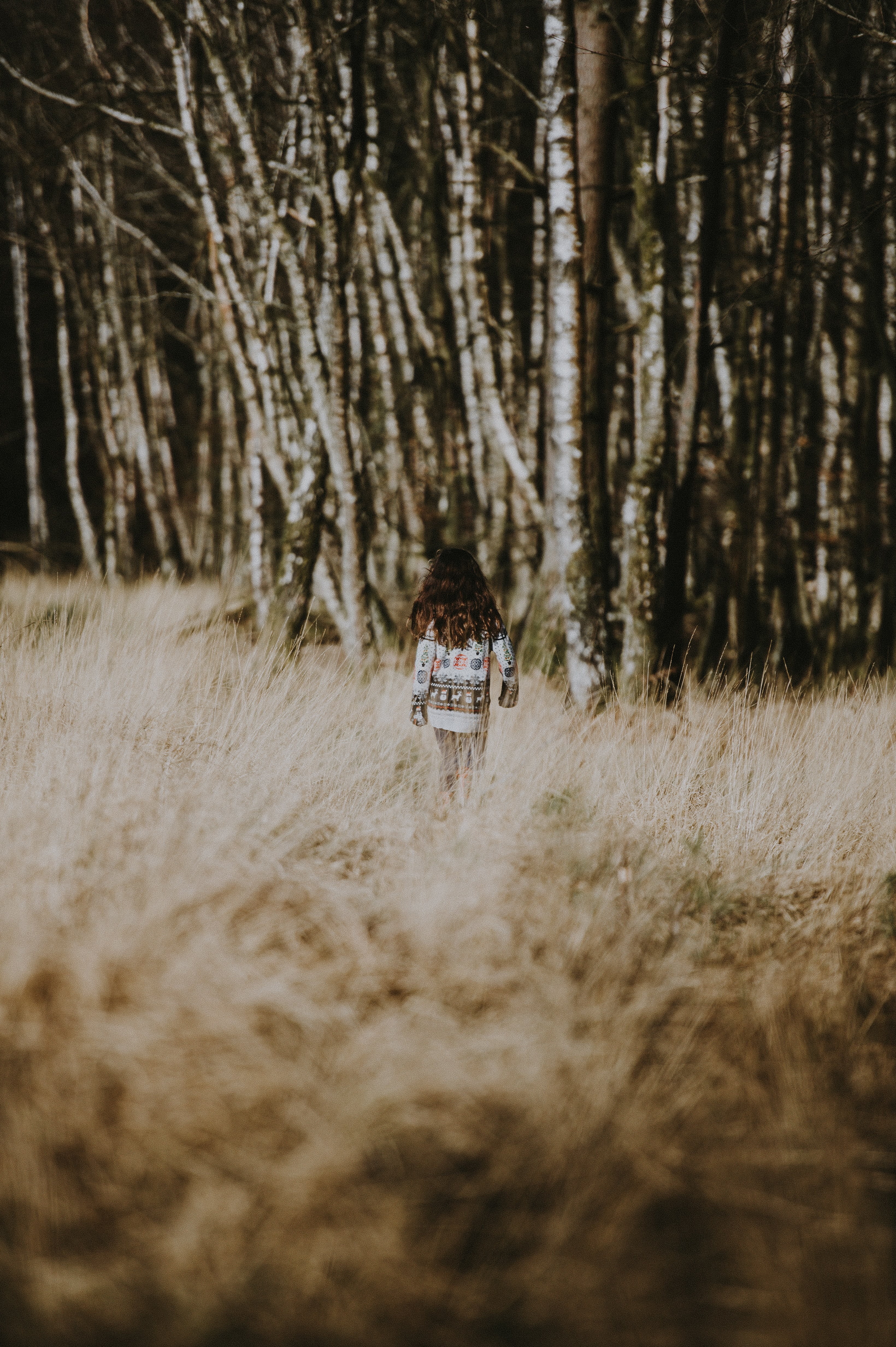 girl on forest