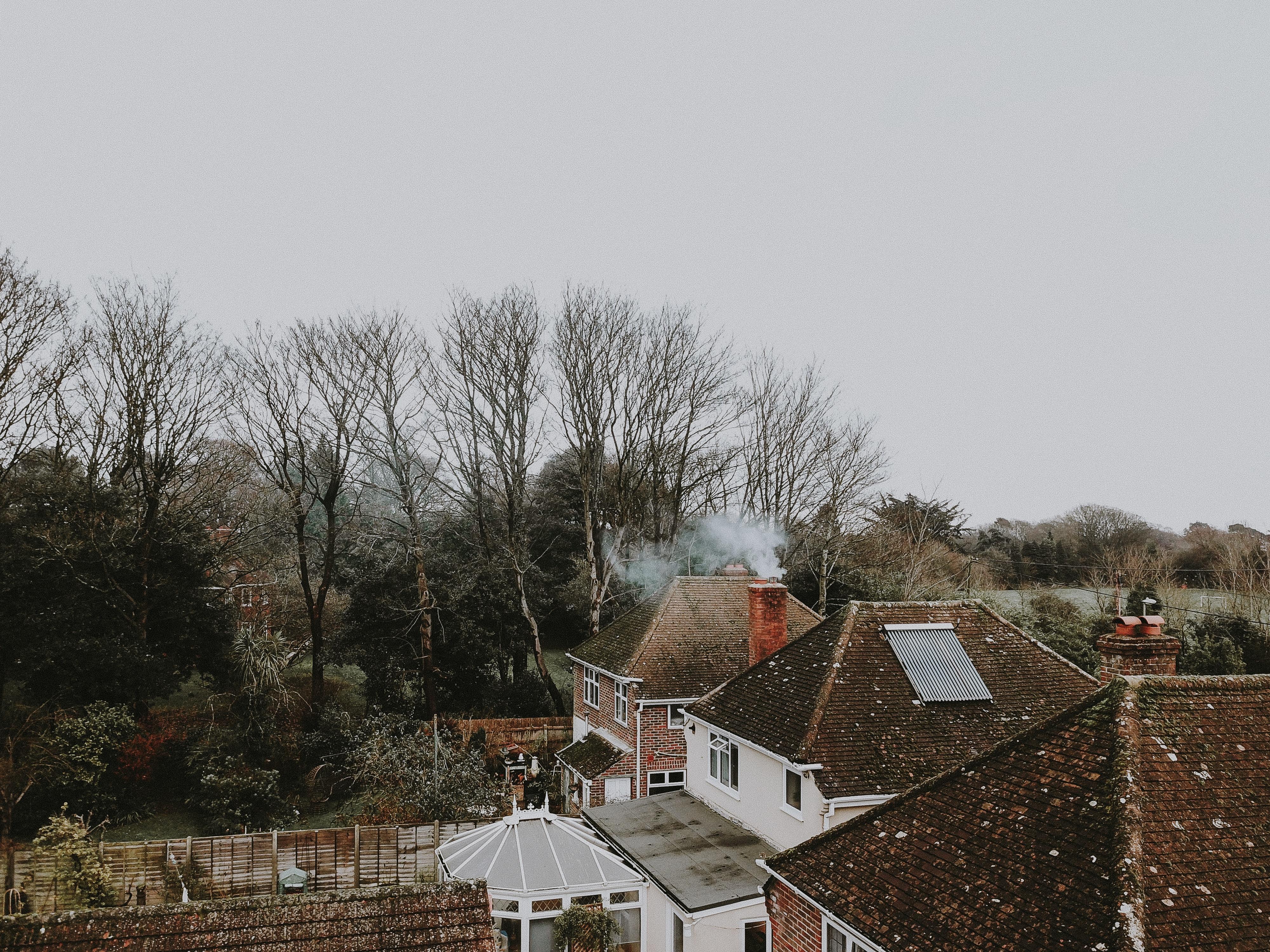 high angle view of house