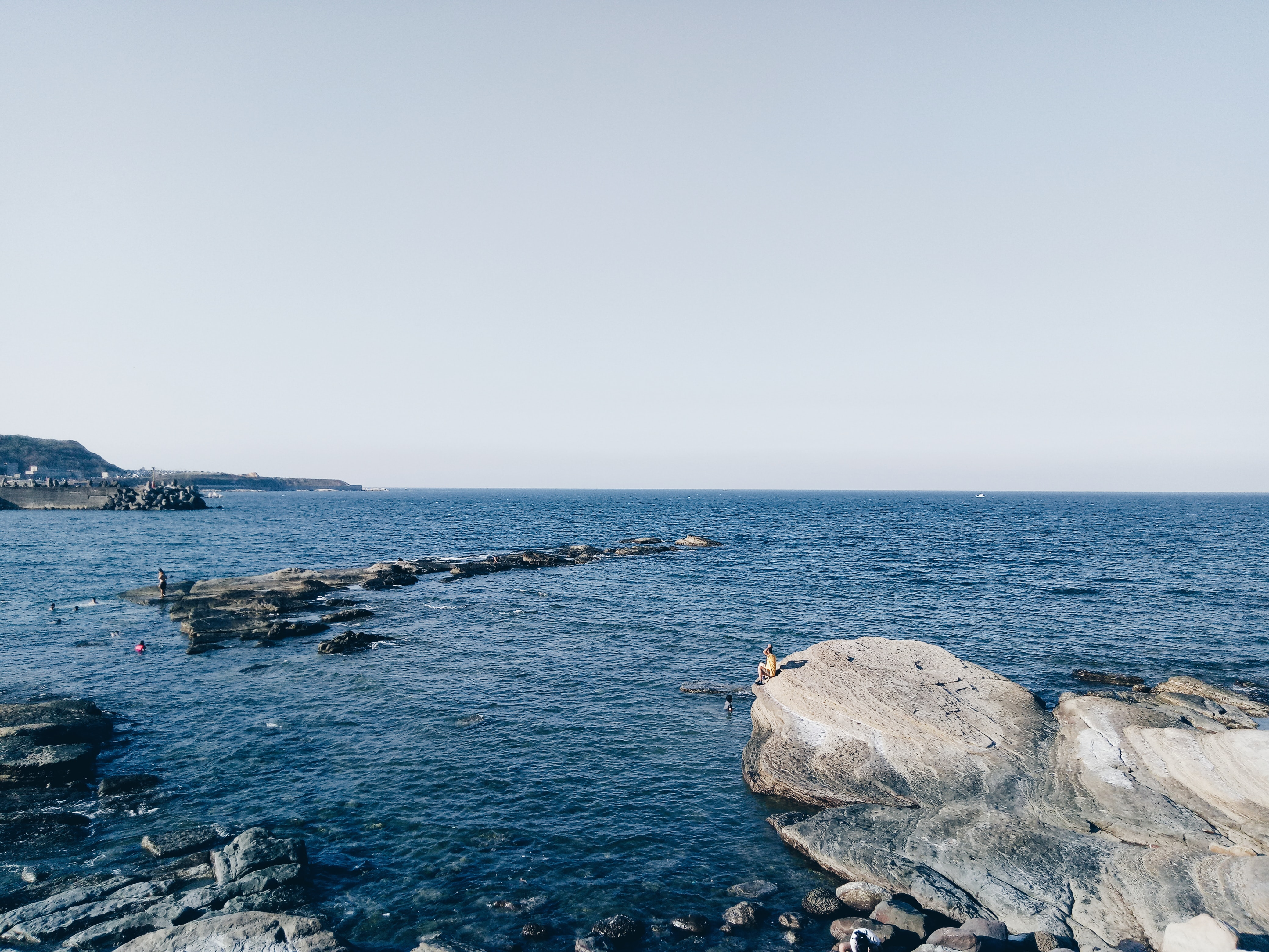sea and stone at daytime