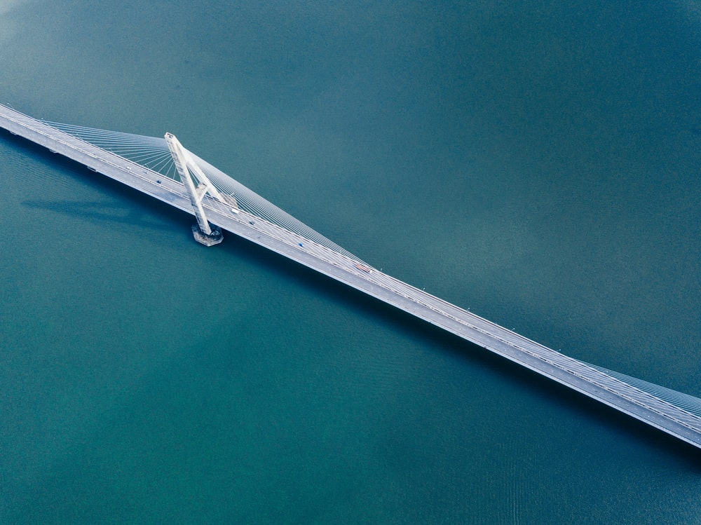 birds eye view of bridge