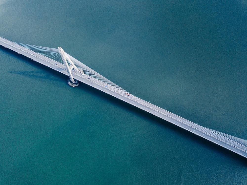 birds eye view of bridge