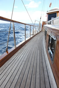 photo of brown ship deck