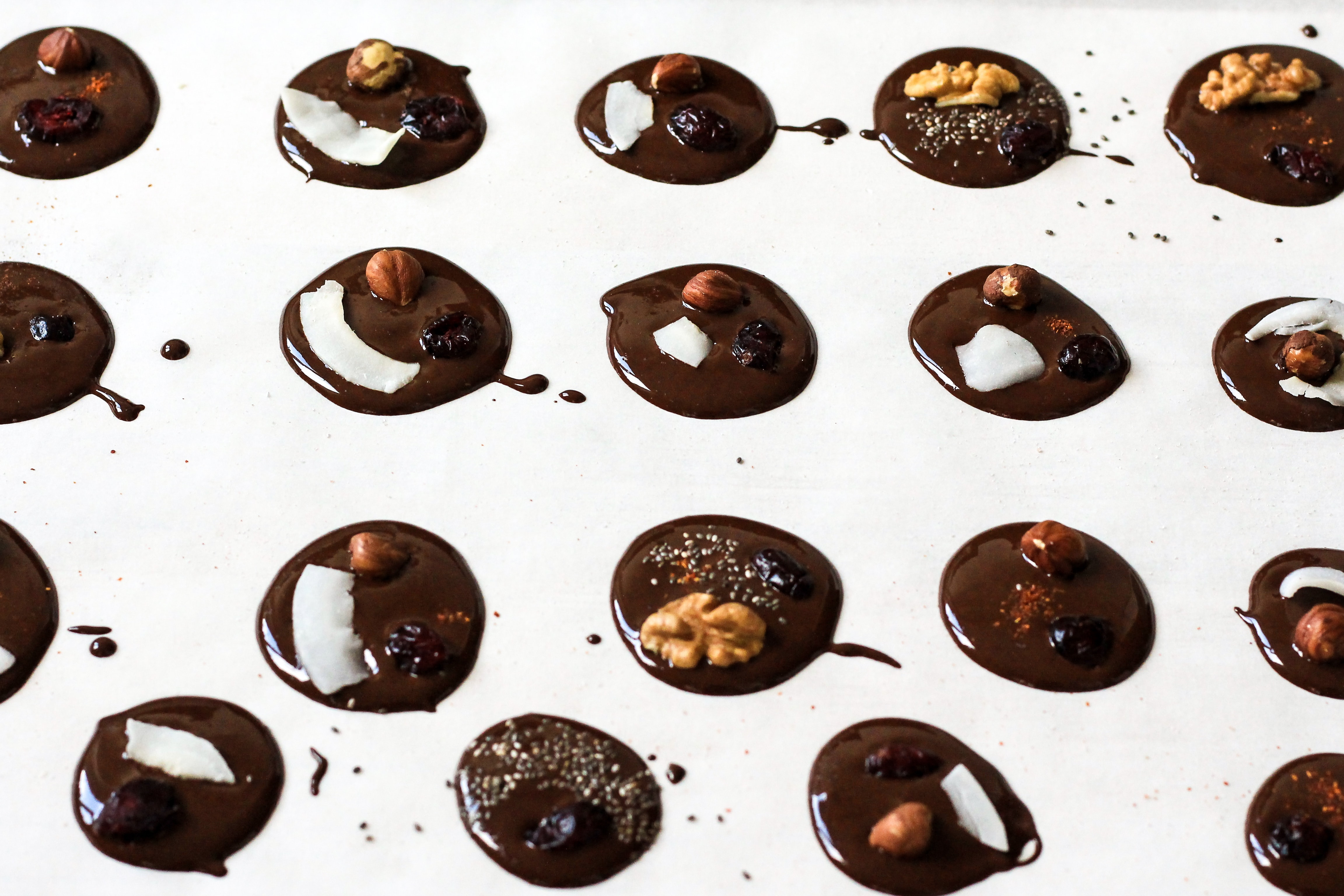 chocolate on white surface