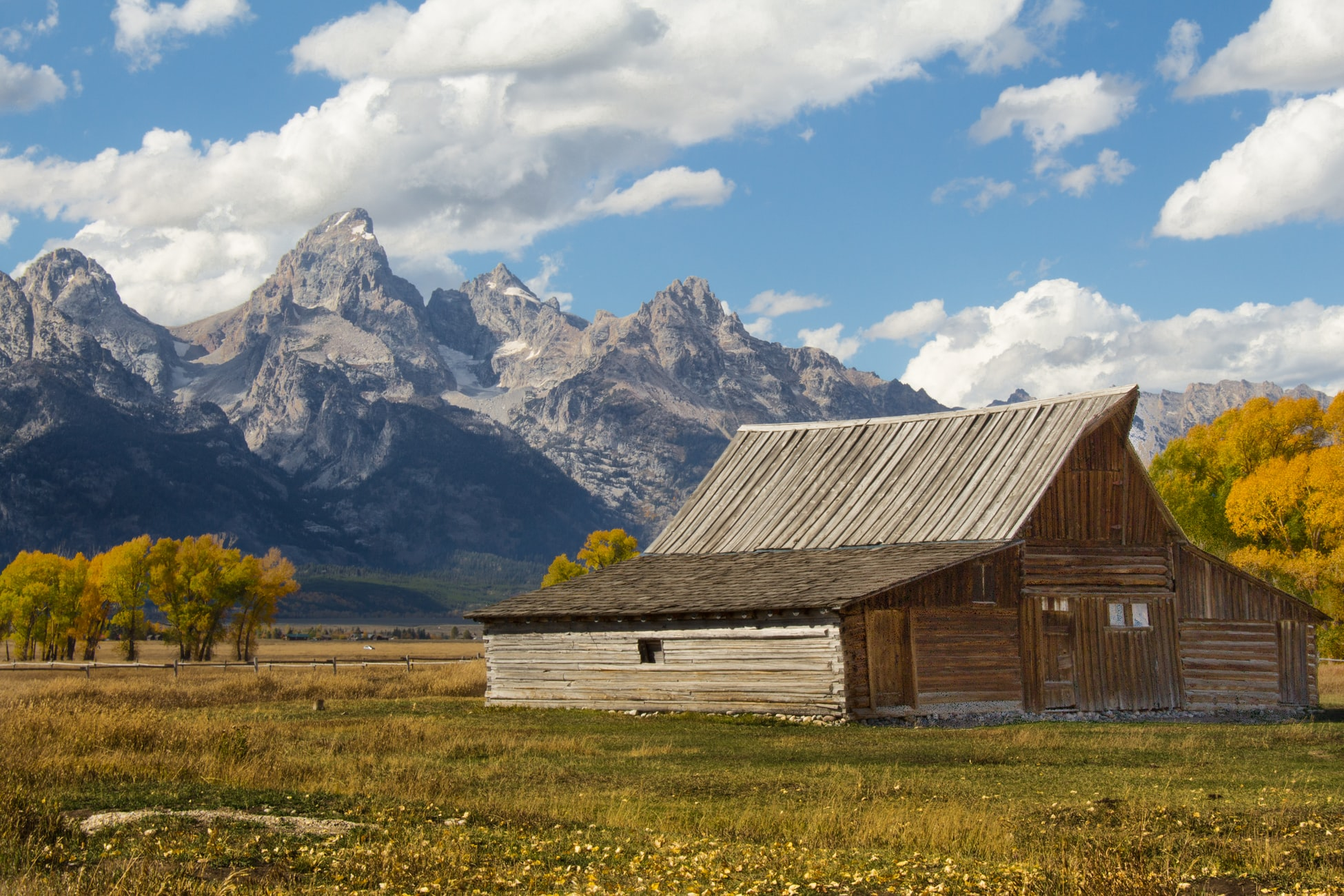 a cabin in the shadow of the Grand Tetons near Jackson Hole, WY
