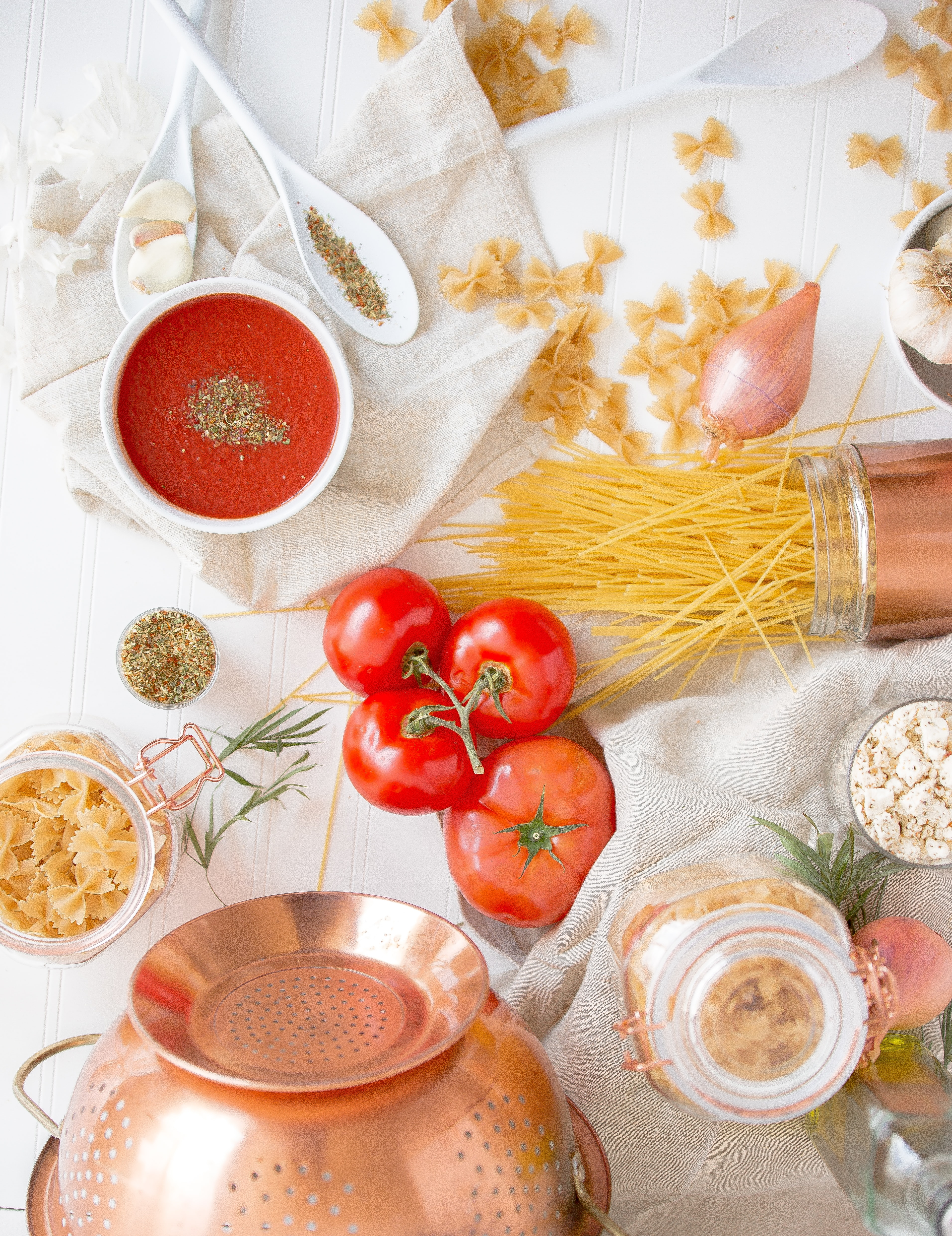 red tomato and pasta