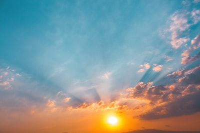 landscape photo of sunrise celestial zoom background