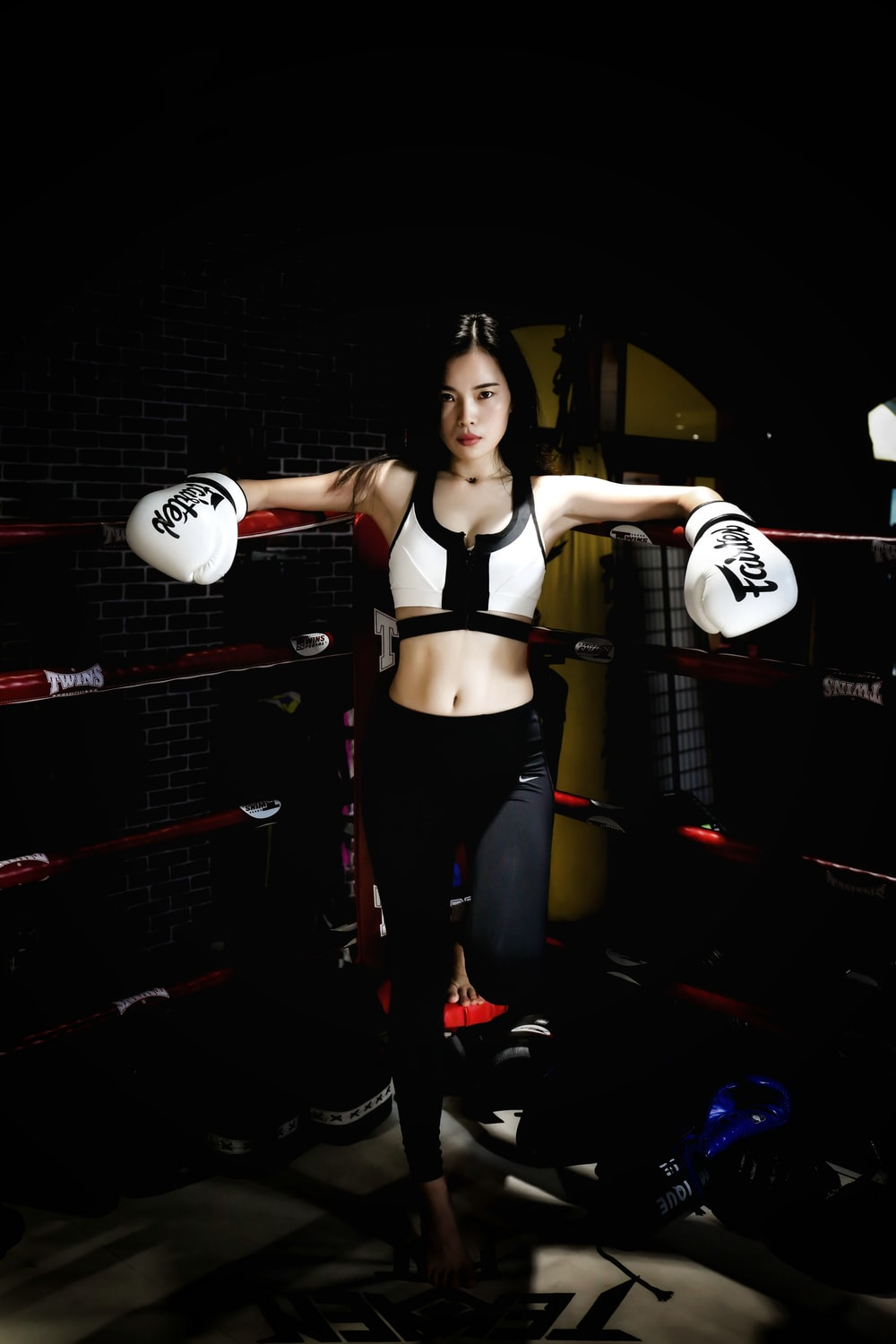 woman inside boxing ring