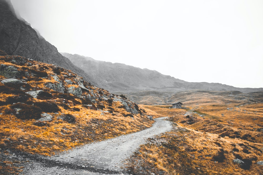 road between rocky plains