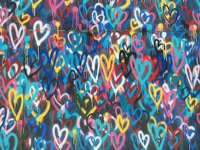 multicolored heart wallpaper hearts teams background
