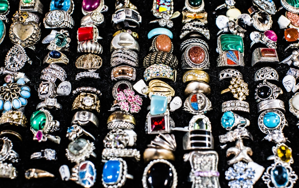 assorted-color men's ring collection