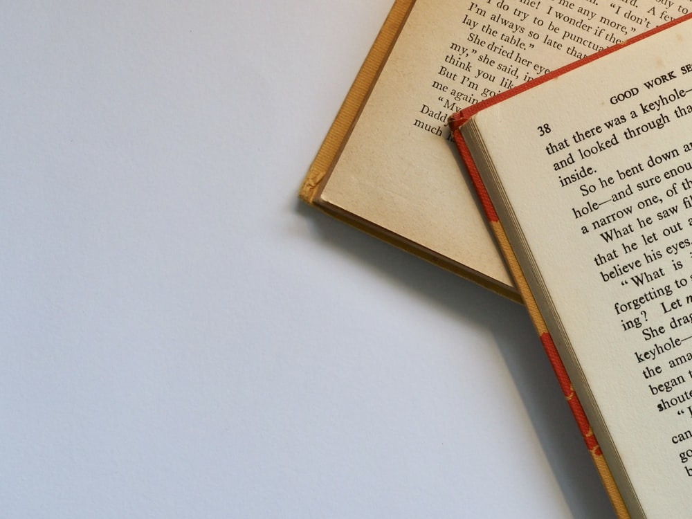 close shot of book page