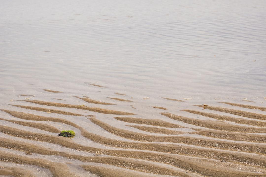 Sand and beach water in Sāo José da Coroa grande, located in Pernambuco, Brazil