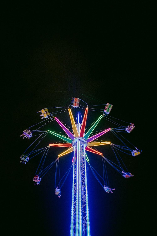 multicolored Mary Go Round ride