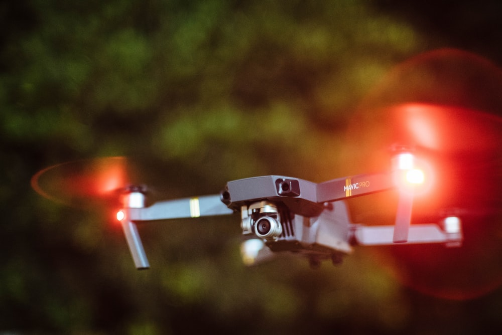 selective photography of drone copter