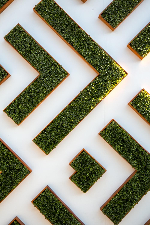 bird's eye view of maze garden