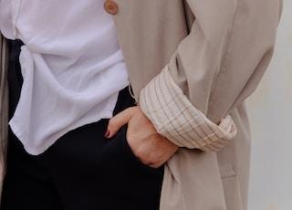 women's brown overcoat