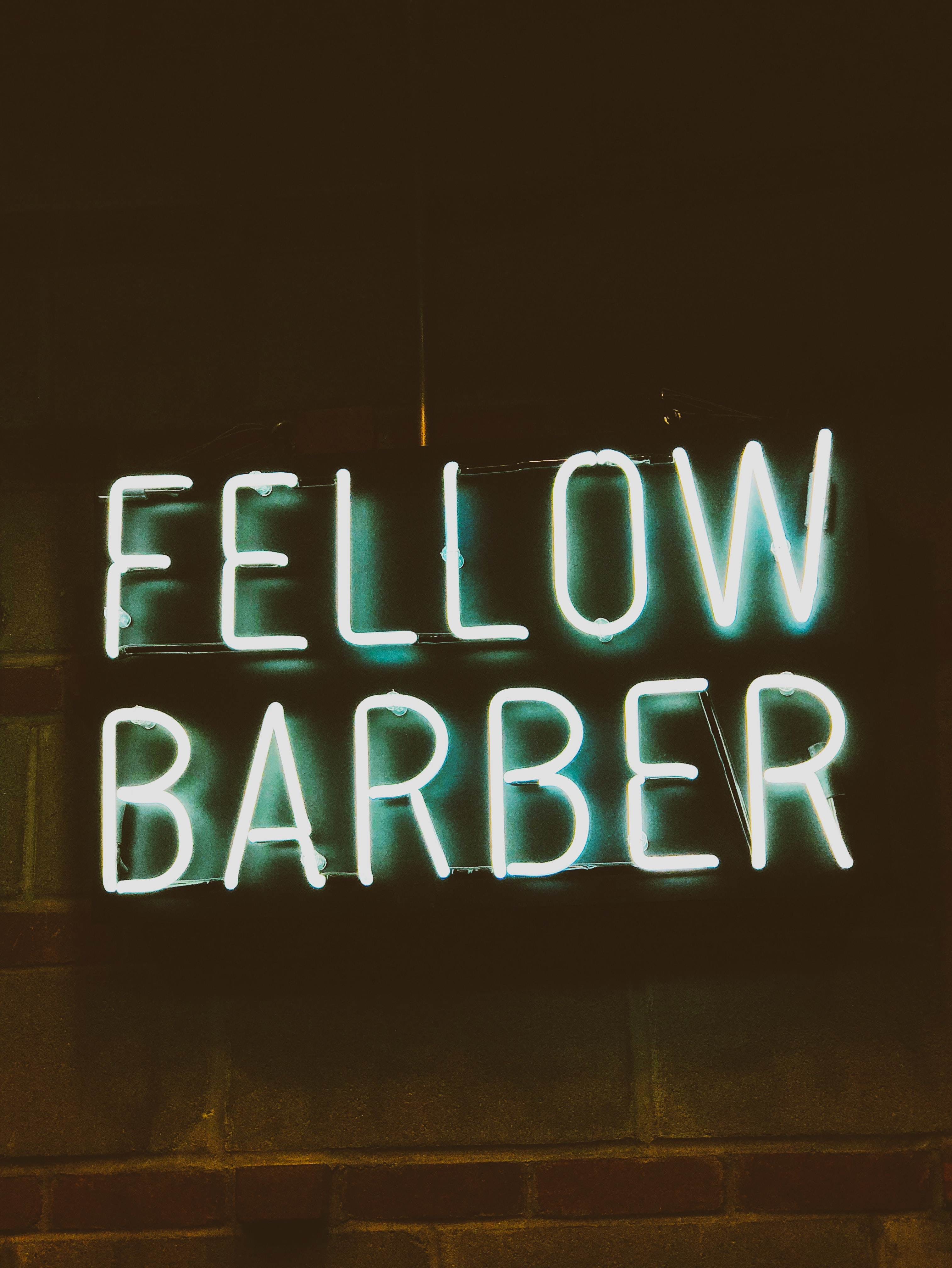 Fellow barber signage