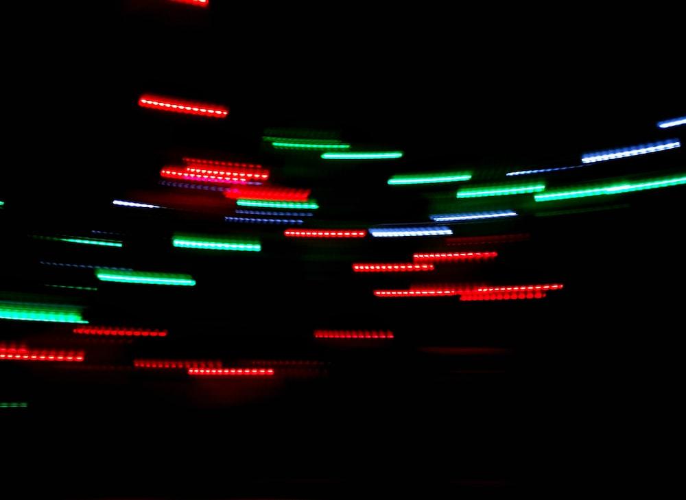 timelapse photo of lights