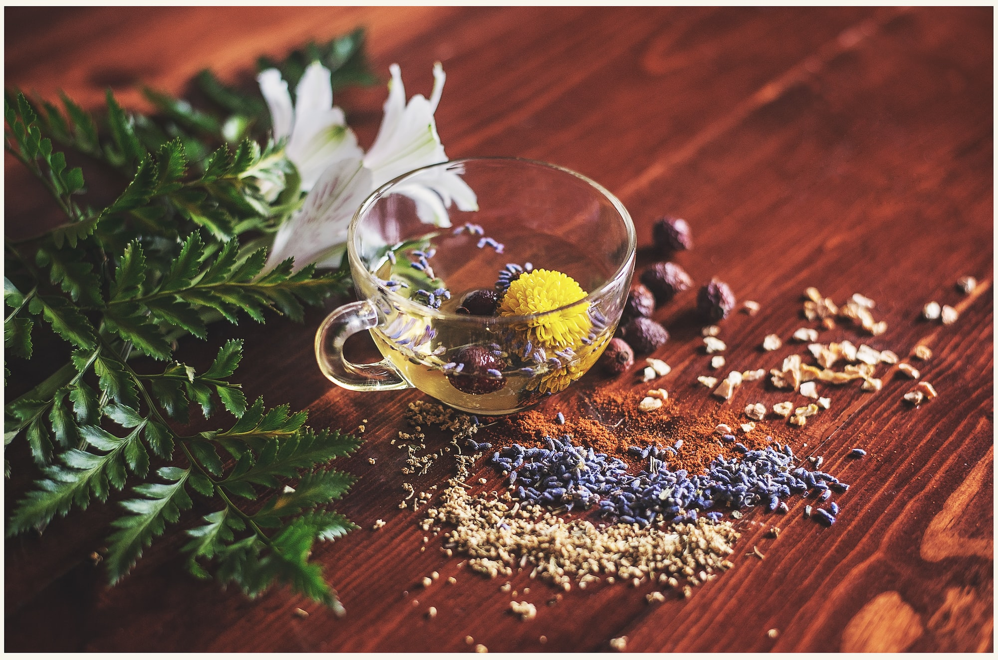 The coffee bean and tea leaf are gluten-free naturally by Lisa Hobbs for Unsplash.