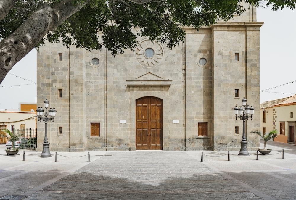 photo of brown concrete church