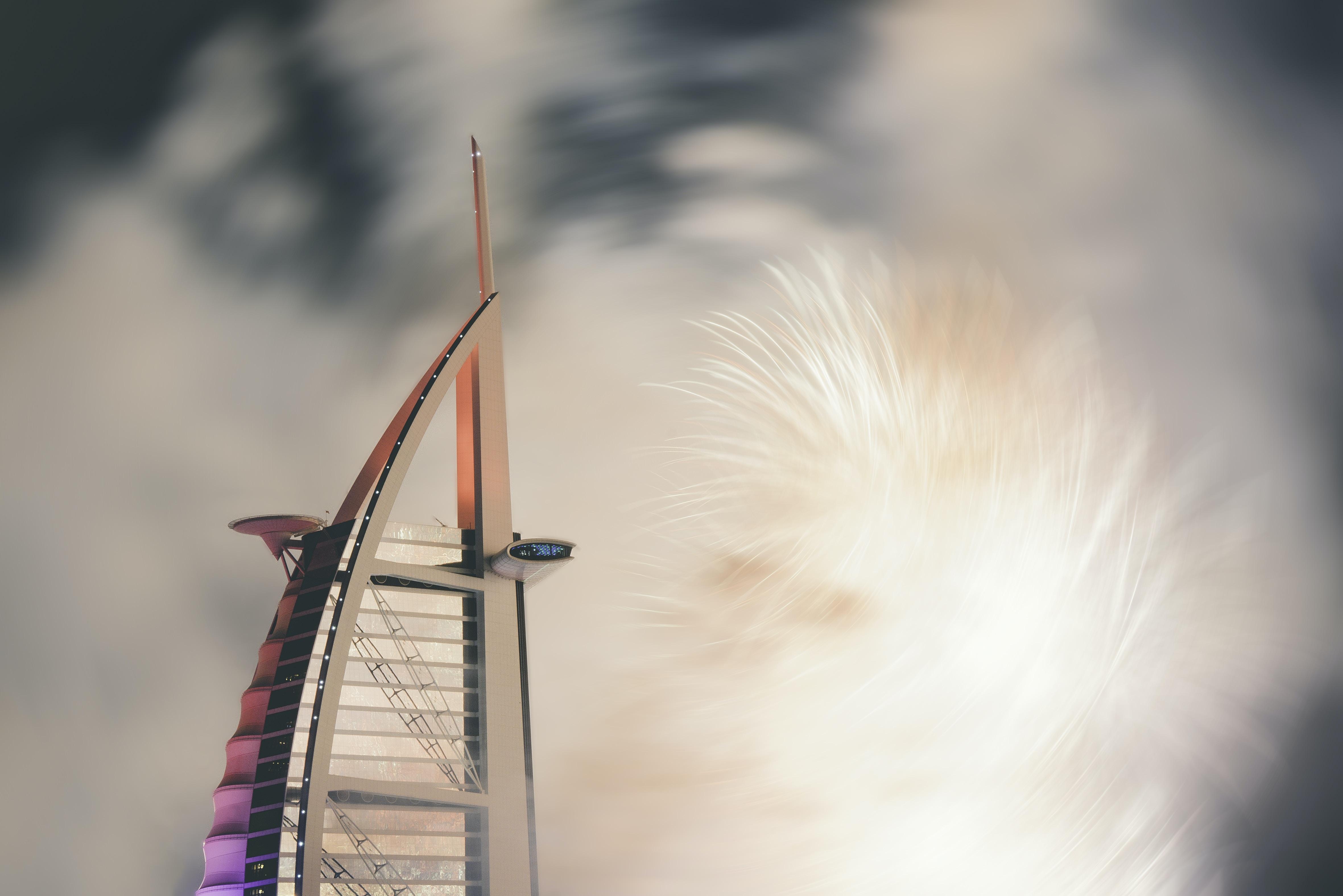 closeup photo of Burj Al Arab, Dubai