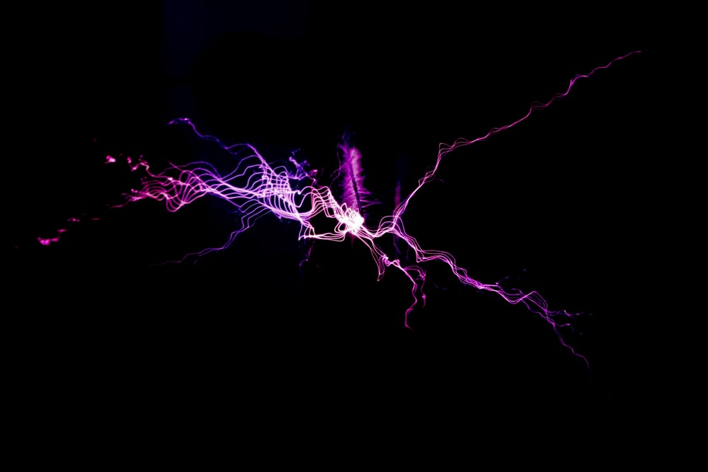 purple lights digital wallpaper