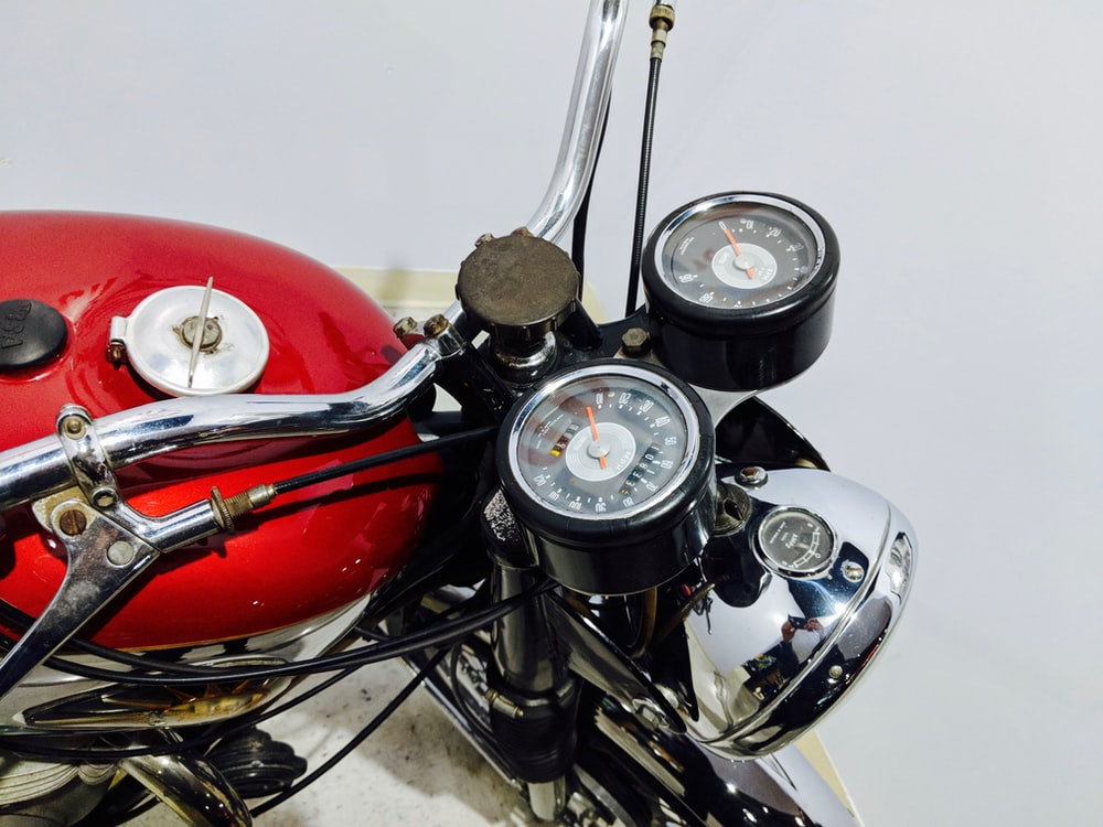 red and black motorcycle