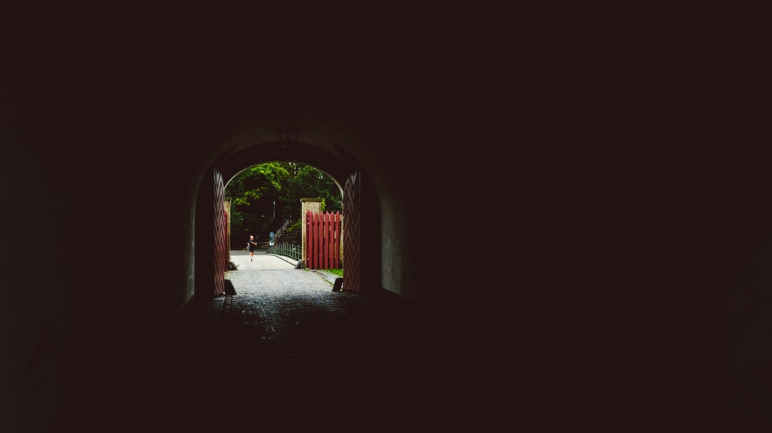 A tunnel entrance way into the Copenhagen Military Barracks.