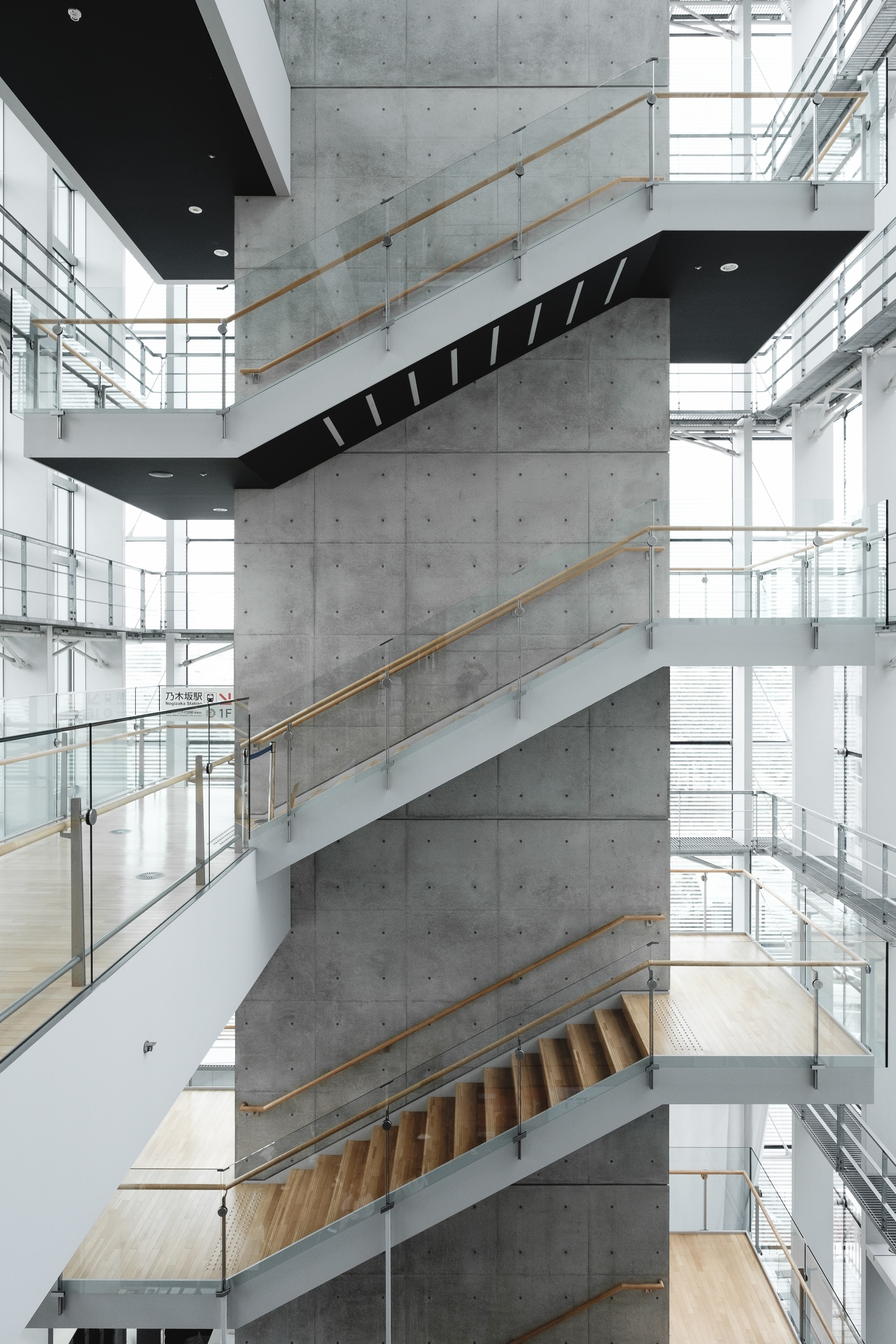 architectural photography of building with stairs