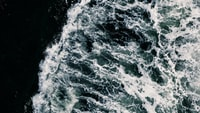 aerial photography of ocean waves