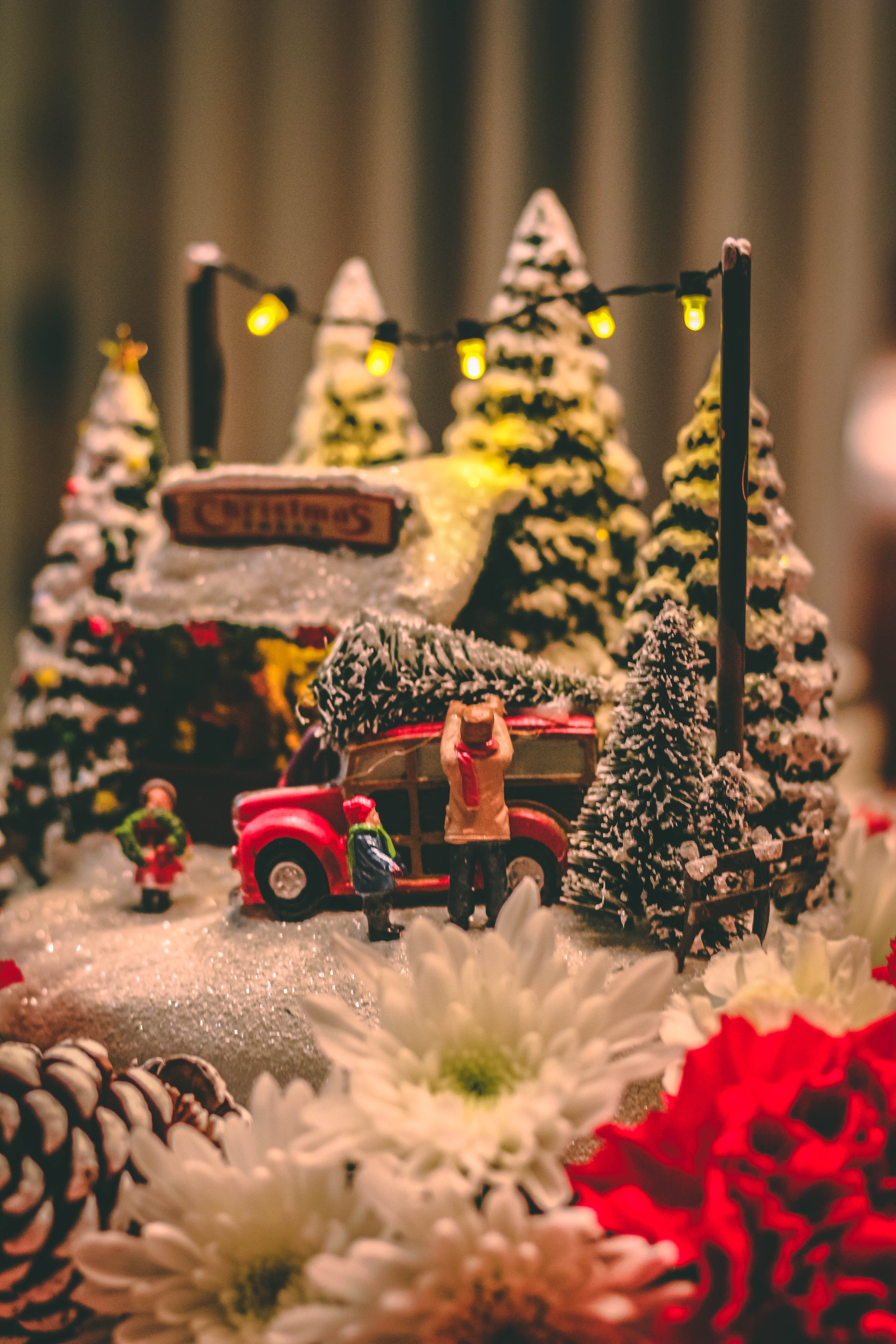 close-up photography of Christmas decoration