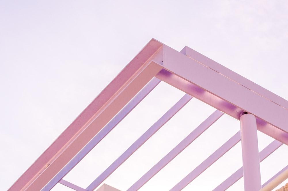pink metal frame photo