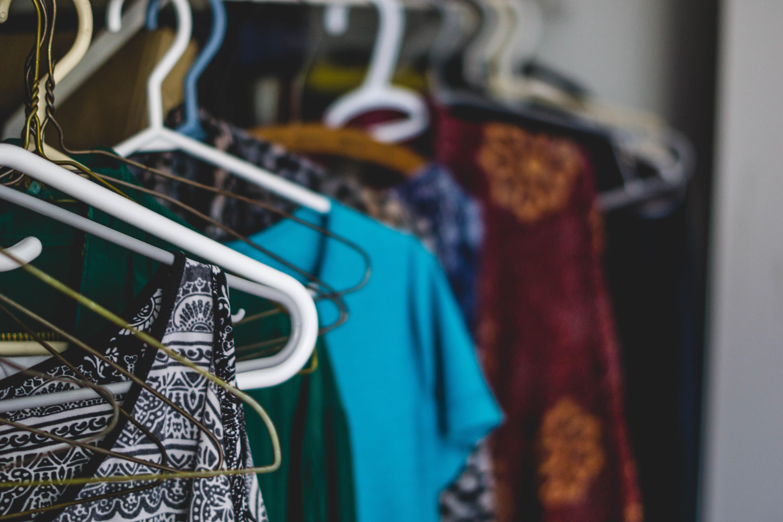 closeup photo of assorted-color clothes