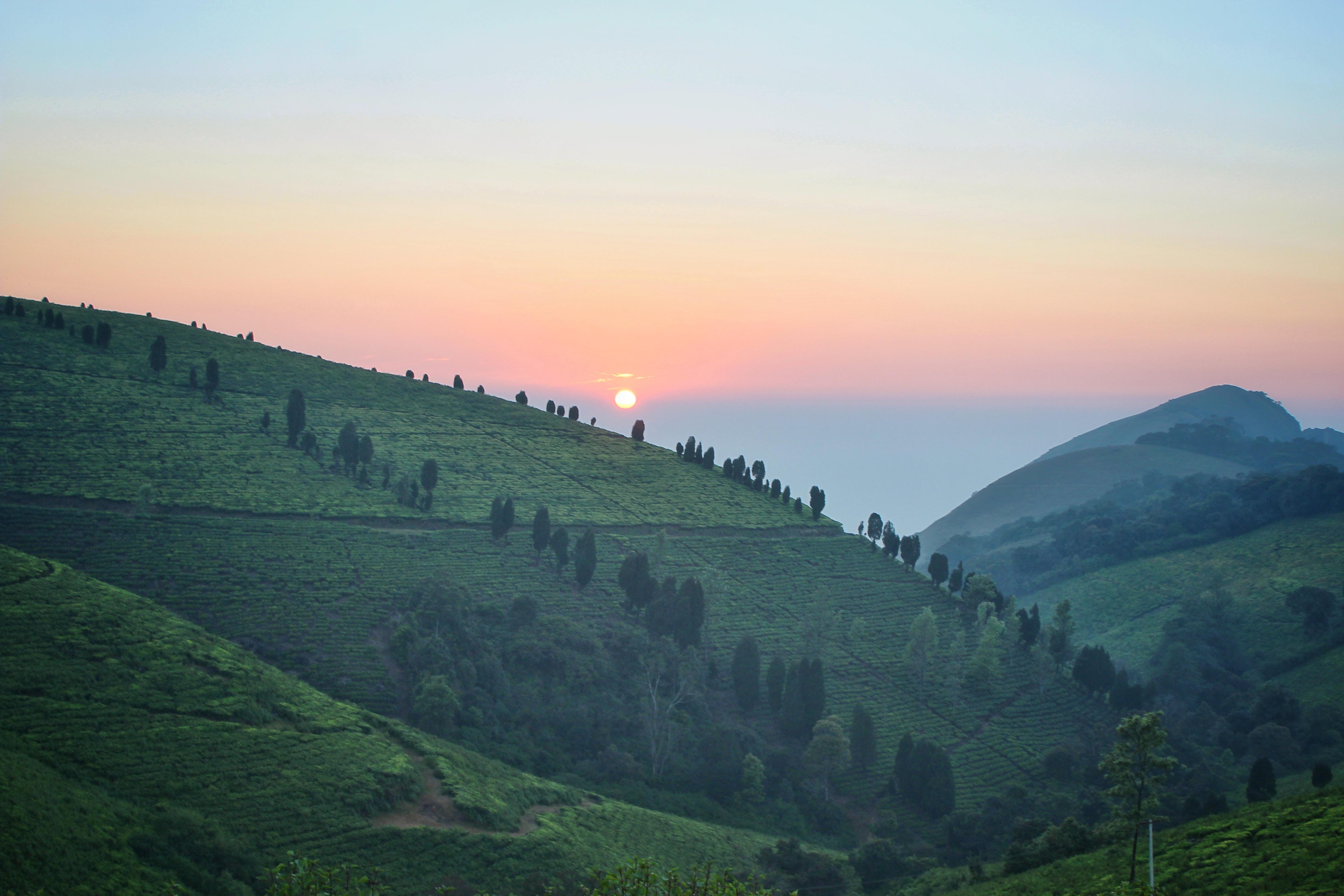 landscape shot of hills