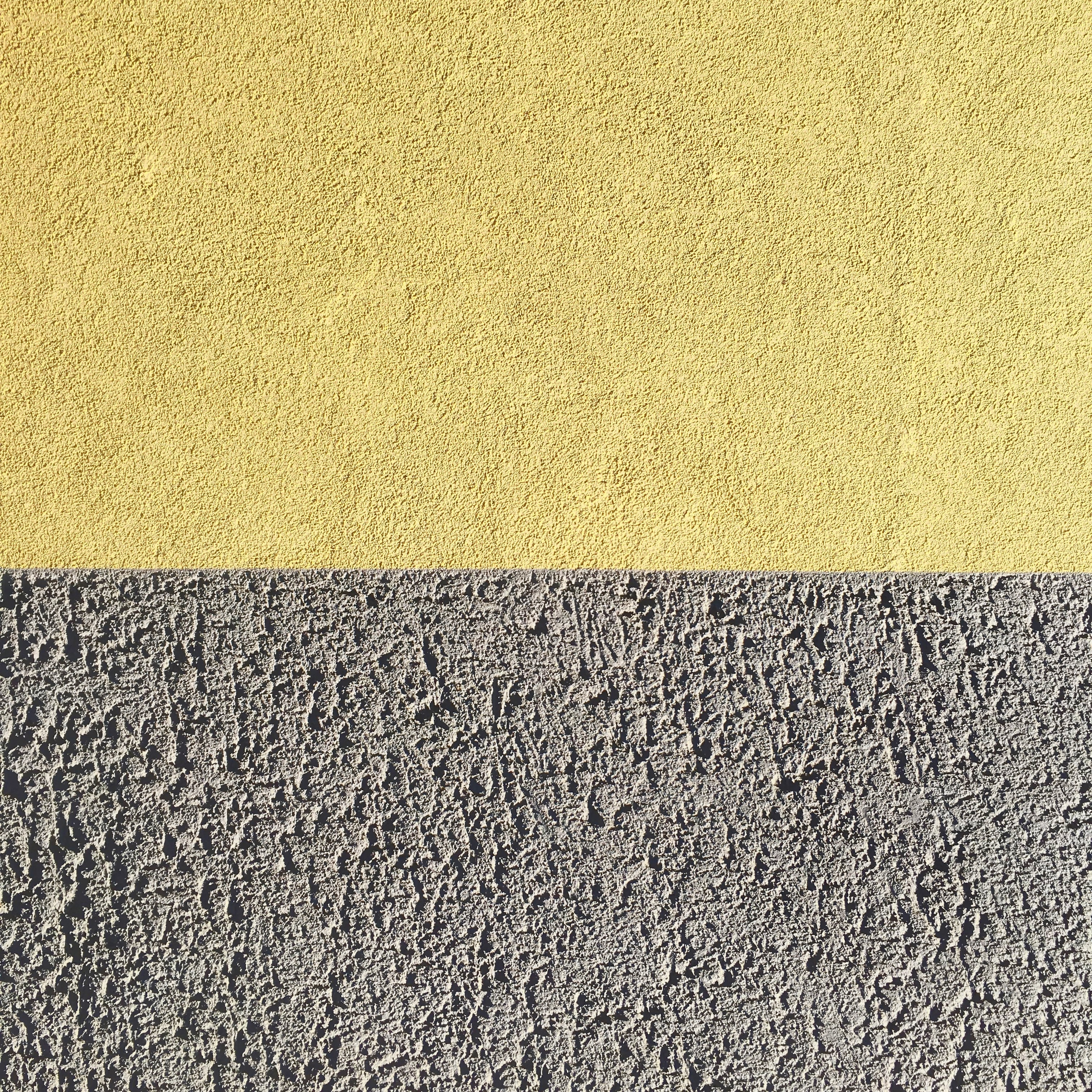 gray and yellow wall