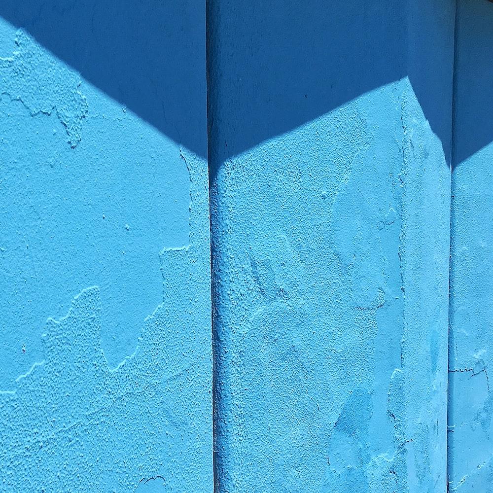 blue concrete wall